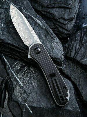 We CIVIVI Elementum Damascus Blade Black Fiber