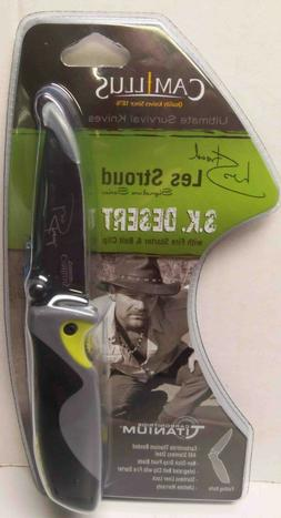 Camillus Les Stroud SK Desert Folding Knife, Grey