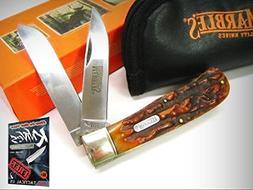MARBLES Stag Bone JUMBO TRAPPER 2 Blade Folding Pocket Knife