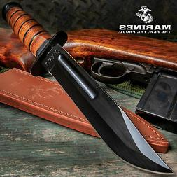 marines tactical bowie survival hunting knife military