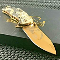 MASTER USA Ballistic ASSISTED OPEN TACTICAL GOLD DRAGON FOLD