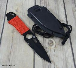 MASTER USA NECK KNIFE/BOOT KNIFE WITH METAL CLIP HARD SHEATH