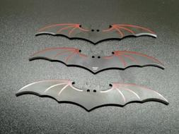 3 piece bat throwing knives. multiple color options, with