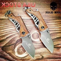Mini Pocket Folding Hunting Knife Tactical Survival Knives W