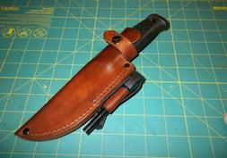 MORA Garberg Custom Leather Knife Sheath, RH Belt, Form Fit,