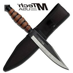 MTECH USA MT-20-19C Fixed Blade Knife 12.5-Inch Overall