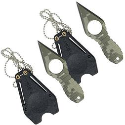 MTech USA MT-588DG Fixed Blade Neck Knife, Green Digital Cam
