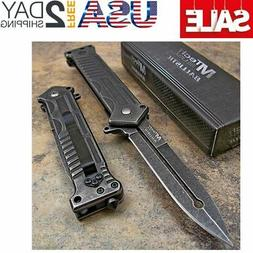 MTECH Tactical Stonewashed Dagger Spring Assisted Opening Re