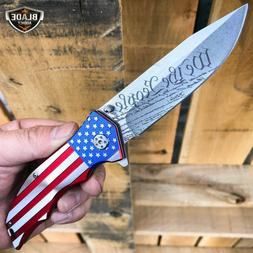 MTech USA American FLAG Spring Assisted Folding Open POCKET
