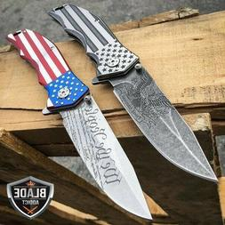 MTech USA American FLAG Spring Open Assisted Folding POCKET