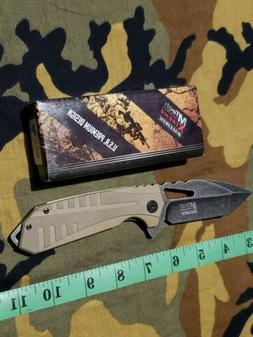 MTECH USA EXTREME BALLISTIC KNIFE ASSISTED FLIP GLASS BREAKE