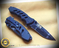 MTECH XTREME BLACK FOLDING SHARP KNIFE WITH POCKET CLIP - Pr
