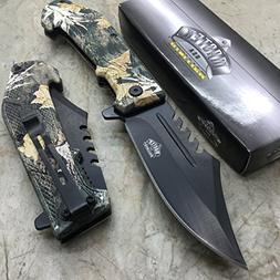 Master USA MU-A042BC Spring Assist Folding Knife, Black Stra