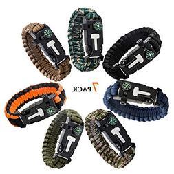 Epartswide Multifunctional Outdoor Survival Paracord Bracele