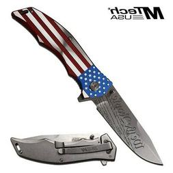MTech MX-A849CL American Flag Assisted EDC Patriotic Folding