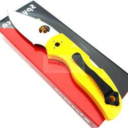 """Spyderco Native 5 Salt Folding Knife 3"""" LC 200 N Tool Steel"""