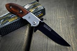 NEW ARRIVAL! TAC-FORCE GENTLEMANS Wood Flipper SPRING ASSIST