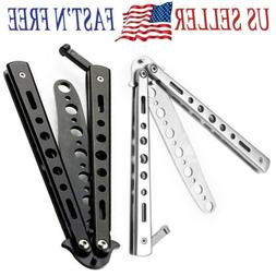 NEW Butterfly Balisong Trainer Training Knife metal Non Shar