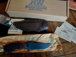 NEW Winkler Knives WK Belt Knife - Sculpted Maple + Brown Le