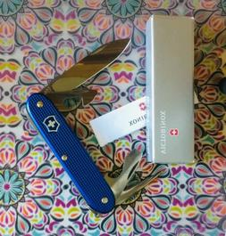 NIB Victorinox Blue ALOX Pioneer Swiss Army Knife 91 mm 3.58