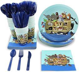 Blue Panda Noah's Ark Disposable Baby Shower Party Supplie