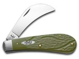 Case Olive Green Hawkbill Pruner Pocket Knife