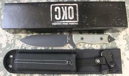 Ontario 8674 R.A.K. Fixed Blade Knife Micarta Handles & Nylo
