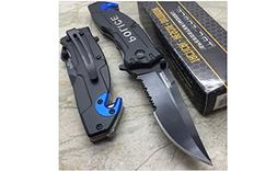 Tac Force Open Assisted Police Cop Rescue Folder Tactical Ha