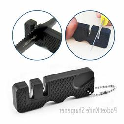 Outdoor Pocket Knife Sharpener Mini Portable Ceramic Tungste