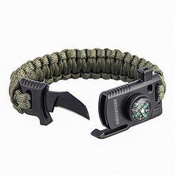 Paracord Survival Bracelet Kit - Military Parachute Rope Sur