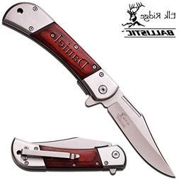 Elk Ridge Personalized Laser Engraved Tactical Pocket Knife,