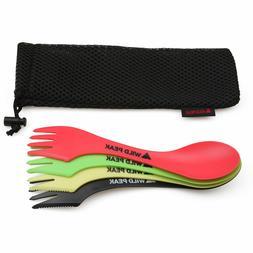Plastic Spork - Colourful all in one Spoon, Fork, Knife Cutl