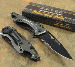 Tac-Force Spring Assisted Open Tactical GREY Pocket knife Hu