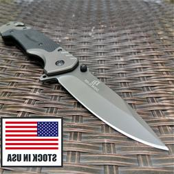 Quick Open Knive Portable Tactical Folding Knife Camping Sur