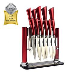 Red Knife Set by Kniv | Chefs, Paring, Utility, Carving, Bre