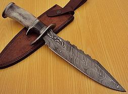 REG-1322 Handmade Damascus Steel 14.50 Inches Bowie Knife