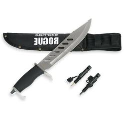 SHEFFIELD Rogue 10-inch Fixed Blade Hunting Knife W/ Bonus S