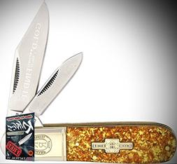 Rough Rider Elite Knife 0111520 Barlow Gold Flake 2 Blade Fo