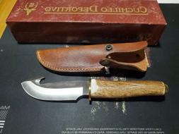 MUELA RUKO RUK001 STAG HANDLE KNIFE W/SHEATH VIPER STYLE GUT