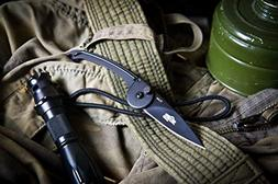 Russian Tactical Folding Neck Knife Fluke Kizlyar Supreme kn