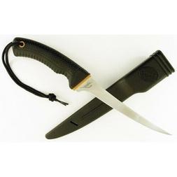 "RUKO SHARK Filet Knife 12-1/4"" Non-Slip Handle ABS Sheath"