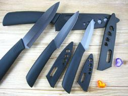 New Sharp Ceramic Knife Set Chef's Kitchen Knives Black Blad