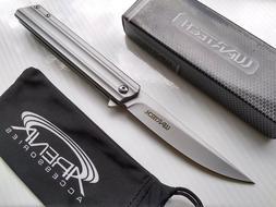 Slim Design Gunmetal Gray Pocket Knife Spring Assisted Frame