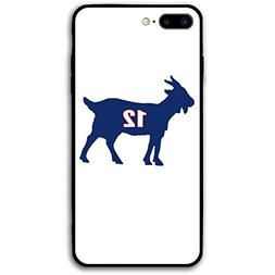 Slim Fit iPhone 7/8 Plus Case, Navy England Brady Goat Shock