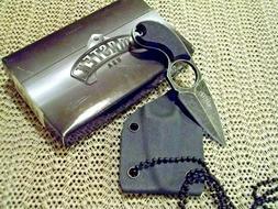 SMALL MASTER USA TACTICAL SELF DEFENSE NECK KNIFE LIGHTWEIGH