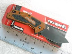 Kershaw Snap-On Gasket Pocket Knife #SO86 Bronze made in USA