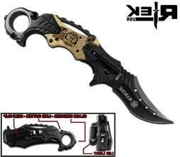 spring assisted asst karambit us marines pocket