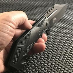 MASTER USA SPRING ASSISTED MILITARY FOLDING POCKET KNIFE Bla