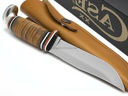 Case 381-6 SS Fixed Blade with Stacked Leather Handle