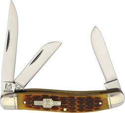 Rough Rider Stockman with Brown Jigged Bone Handle